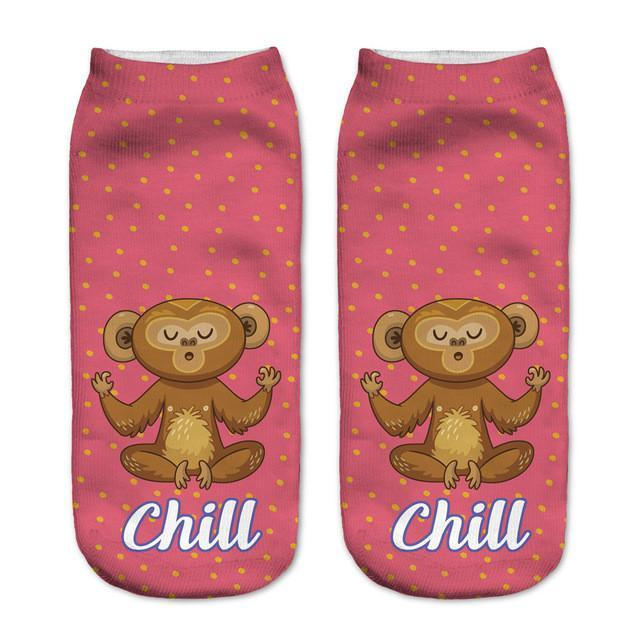 Chill Monkey Ankle Socks