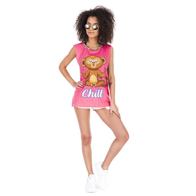 Chill Monkey Open Sleeve Top