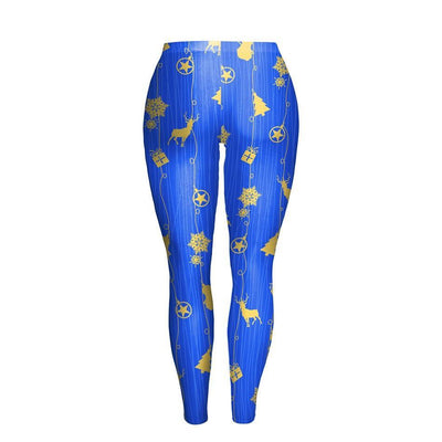 Christmas Symbol Blue Leggings