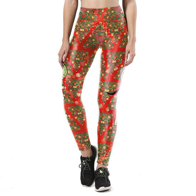 Christmas Tree Red Leggings