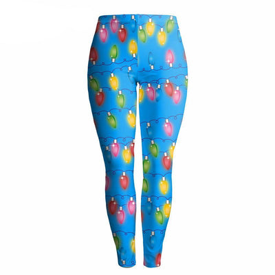 Colored Bulbs Christmas Leggings