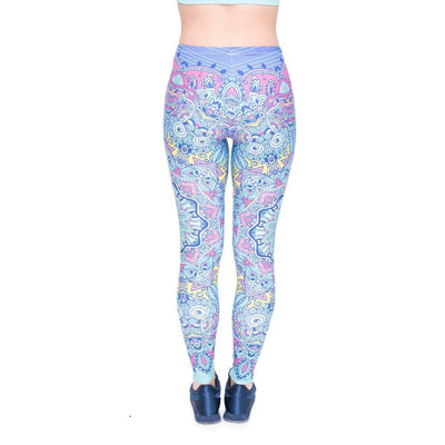 Colorful Mandala Patterned Leggings