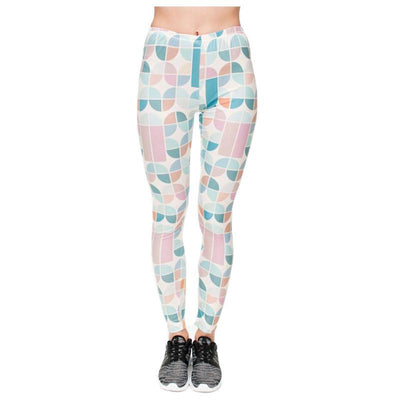 Colorful Retro Glass Leggings