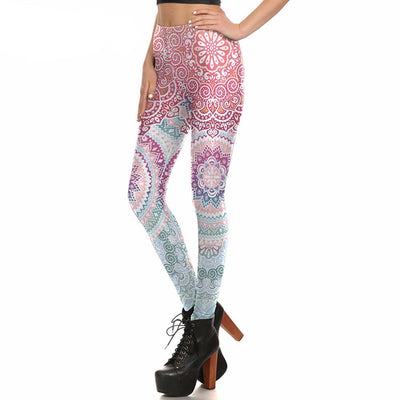 Colorful Round Ombre Leggings