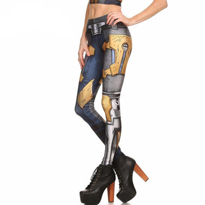 Comic Cyborg Leggings
