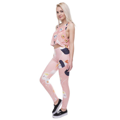 Cute Sushi Roll Printed Leggings