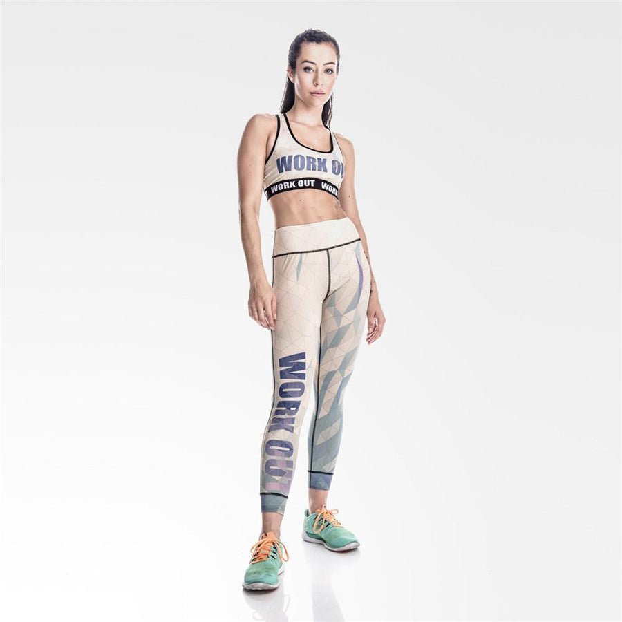 Diamond Shaped Lattice Workout Leggings