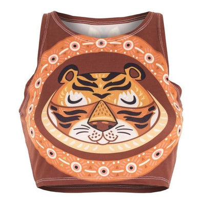 Friendly Tiger Crop Top