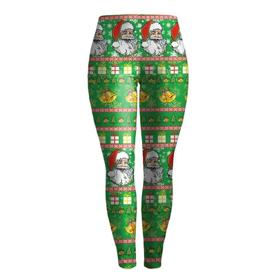 Gift Wrap Green Leggings
