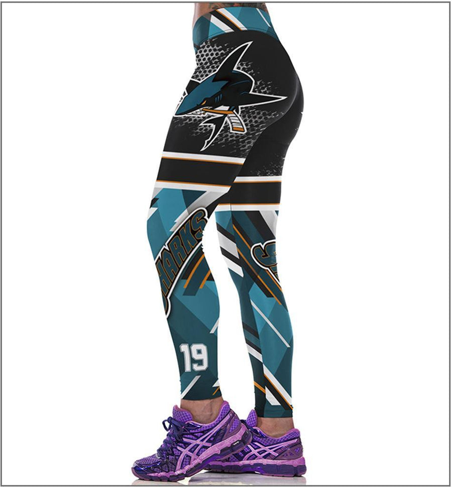 San Jose Sharks Football Leggings