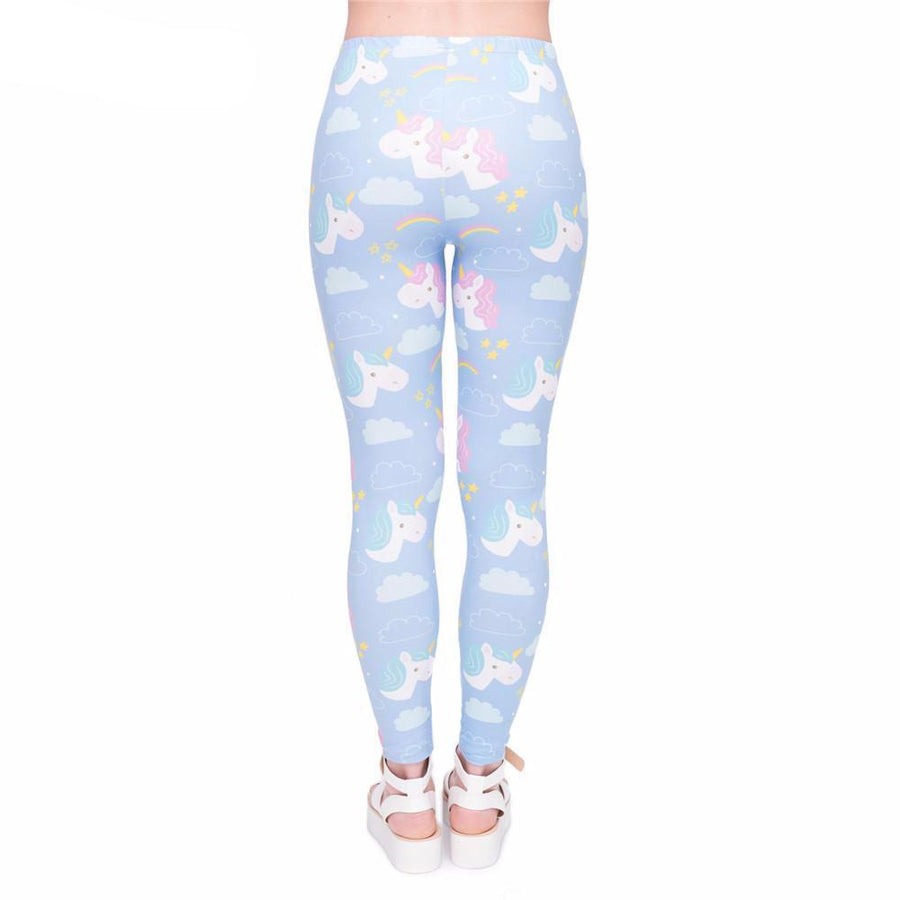 Sky and Clouds Unicorn Leggings