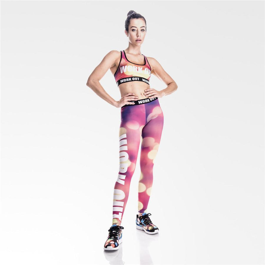 Spectrum Purple Workout Leggings