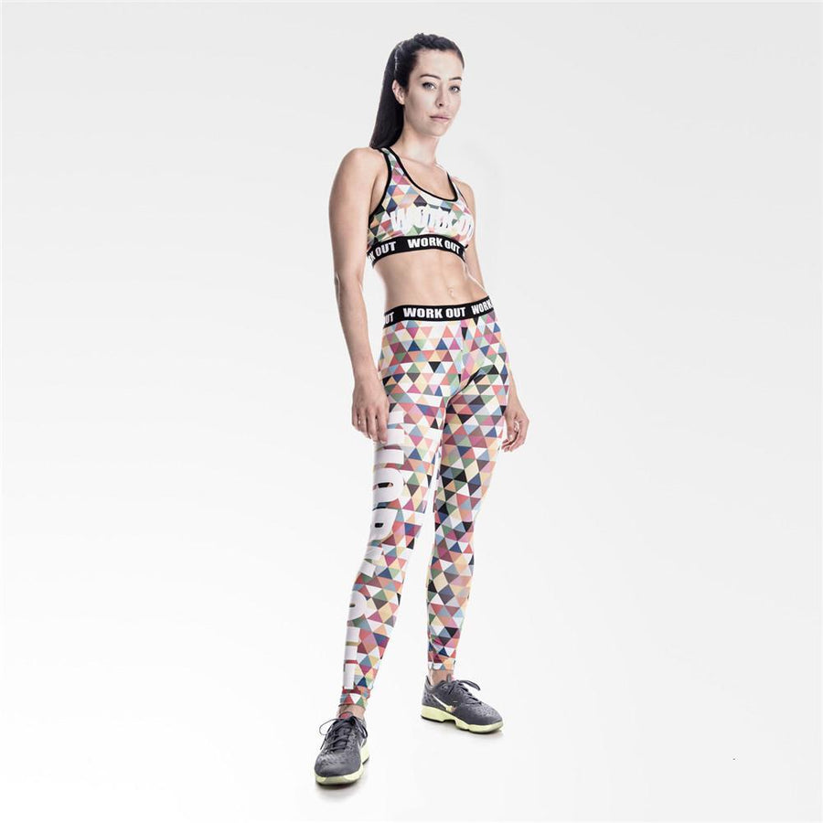 Triangle Multi Colored Workout Leggings