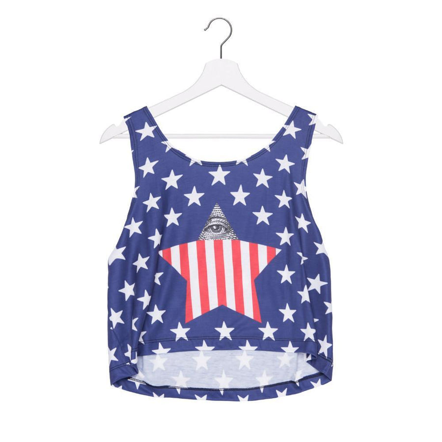 US Stars Crop Top