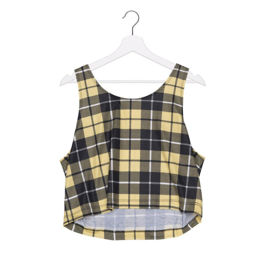 Yellow Plaid Crop Top