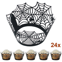Spiderweb Cupcake Cups (Set of 24)