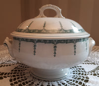 Soup tureen green 459