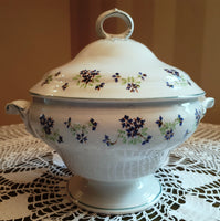 Soup tureen blueberries