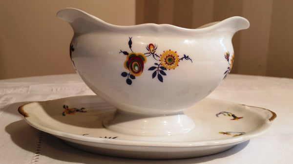 Gravy boat yellow flowers