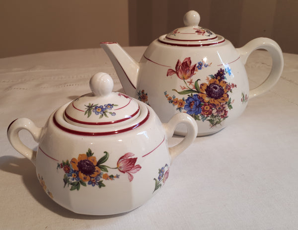 Service sugar bowl & teapot sunflower