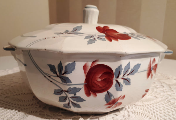 Soup tureen rose art deco