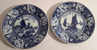 Blue decorative plates