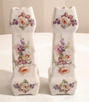 2 flowered vases