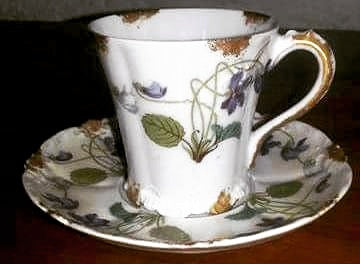 The oldest cup + saucer leaves