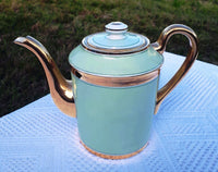 Green and gold coffee pot