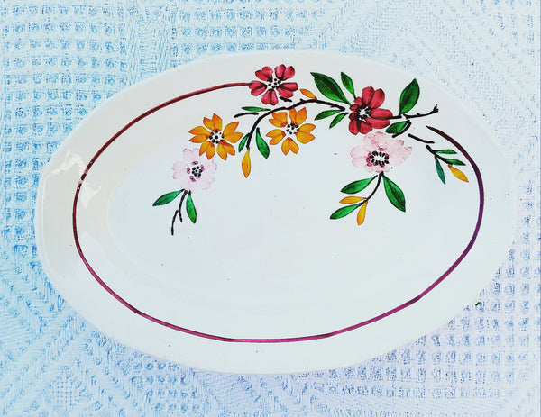 Bucolic flowers pickle dish