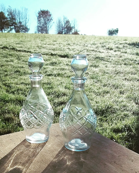 Glass oil vinegar set