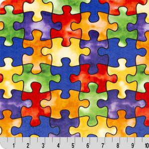 Jigsaw Digital Print Minky