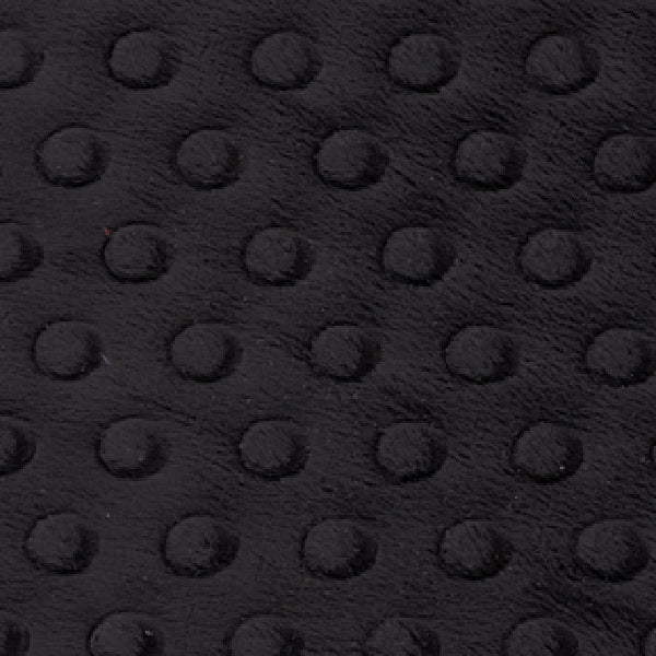 Black Embossed Dot Minky