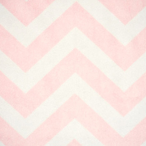 Chevron Blush-White Minky