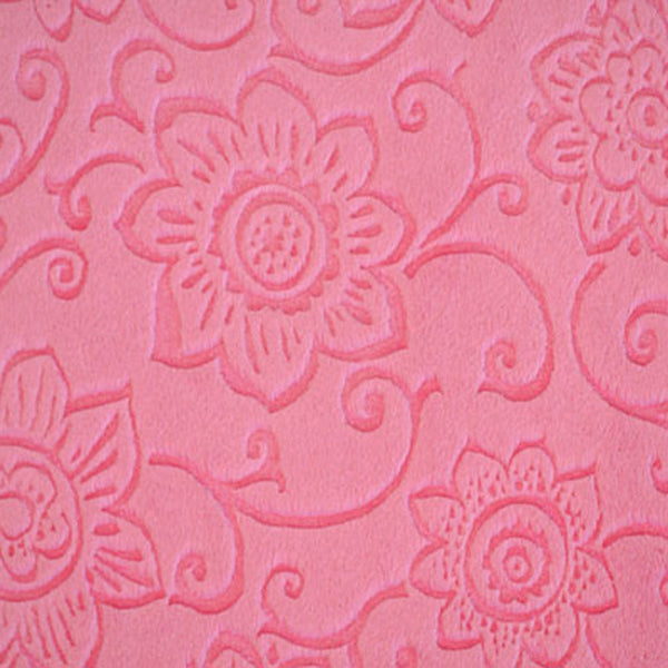 Embossed Flower Paris Pink Minky