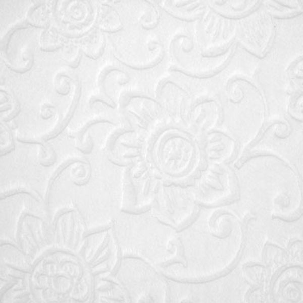 Embossed Flower Snow White Minky