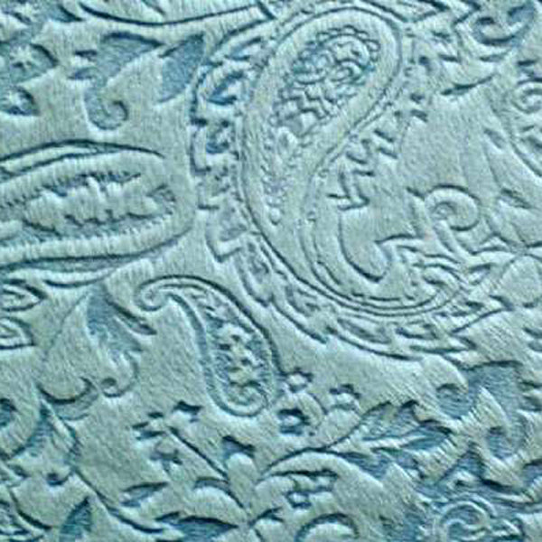 Embossed Paisley Baby Blue Minky