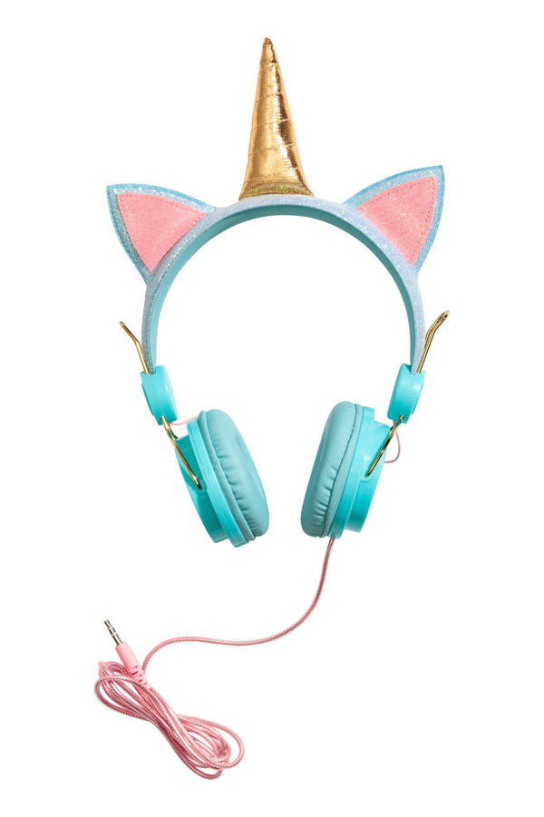 Unicorn Headphones Aqua