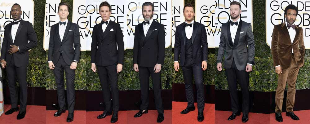 The Boring State of Menswear at the Golden Globes 2017
