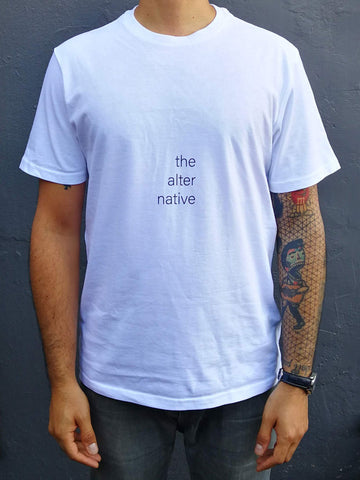 Alternative White Cotton T-Shirt (mens)