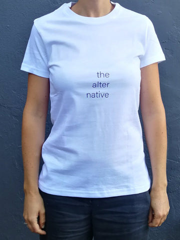 Alternative White Cotton T-Shirt (womens)