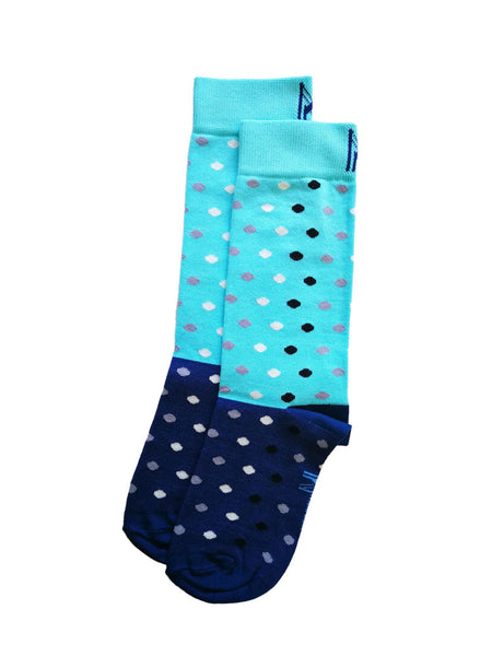 Blue Raindrop Sock (Women)
