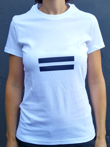 Equality White Cotton T-Shirt (womens)