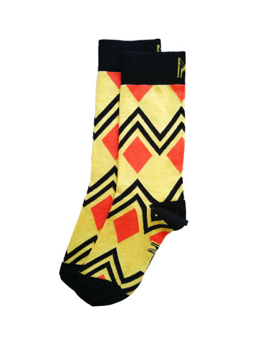 Orange Diamond Sock (Men)