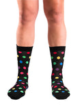 Crazy Black Polka Sock (8-11)