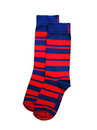 Red & Blue Stripe Sock (4-7)