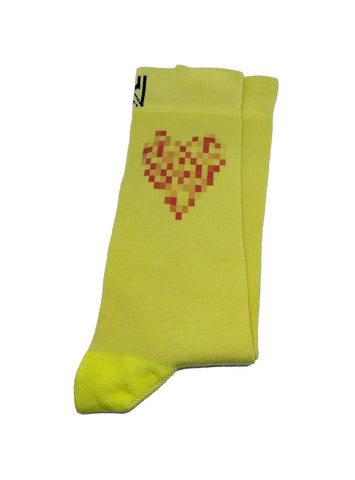 Yellow Heart Socks