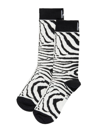 Black Zebra Sock (4-7)