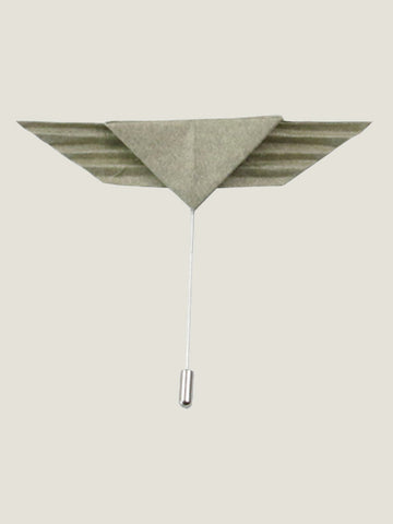 Aviator Origami Lapel Pin