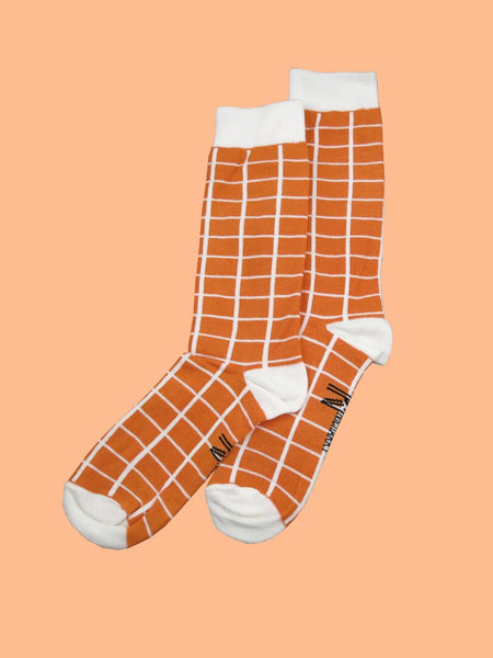 Orange Window Socks (8-11)